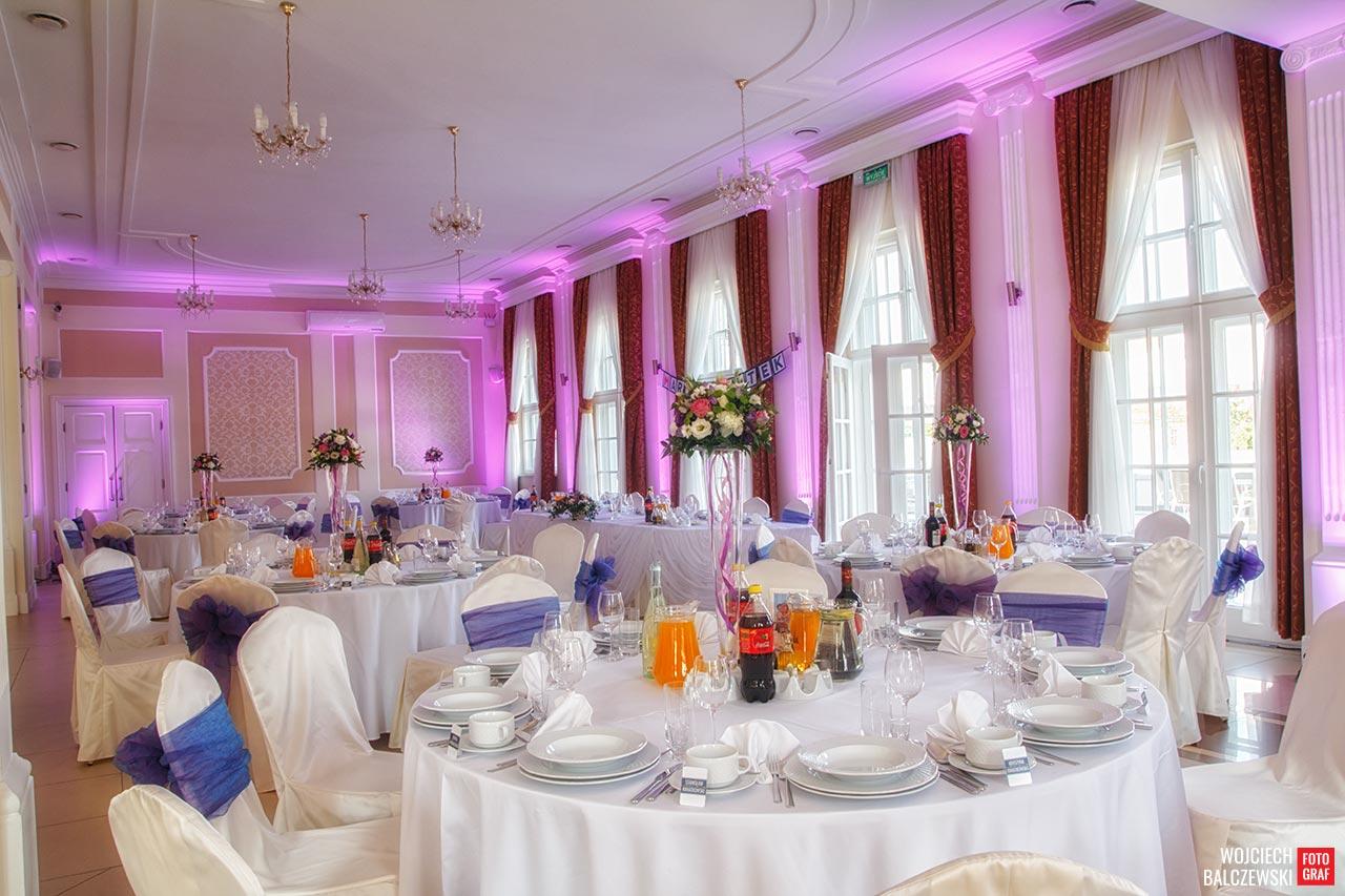dodatkowe oświetlenie sali weselnej