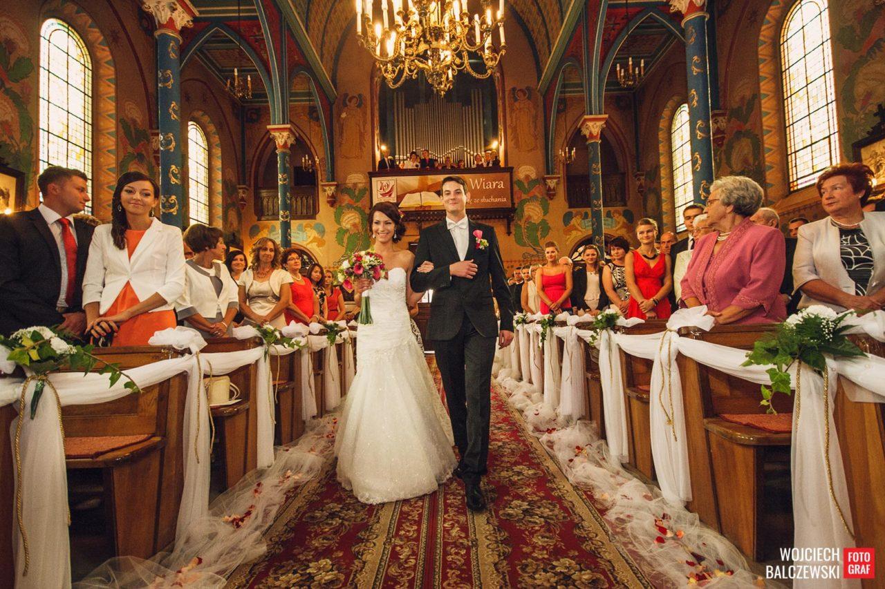 ślub w łódzkim kościele