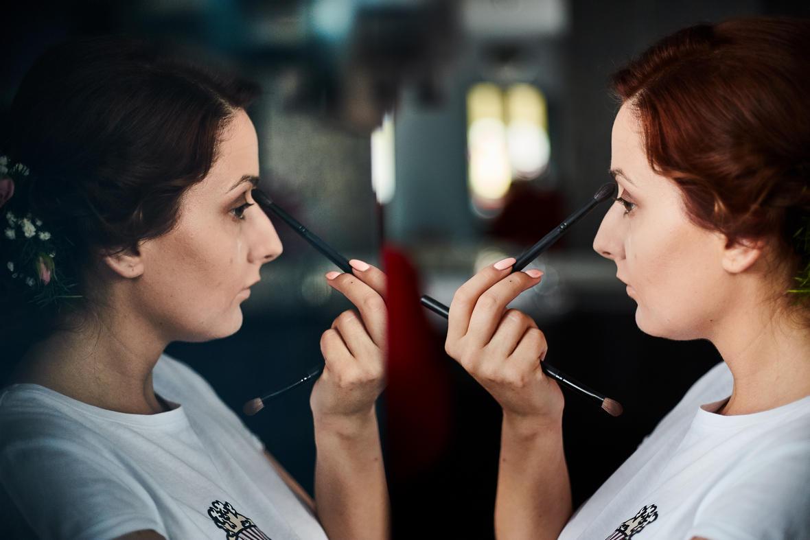 makijaż ślubny wykonany samodzielnie