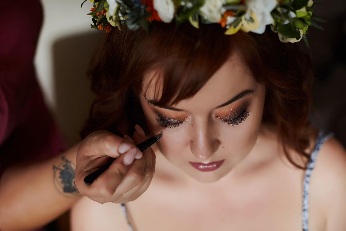 sesja ślubna make-up